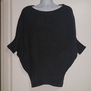 Vince Large Gray Wool Camel Poncho Sweater